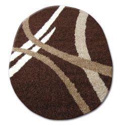 Teppich oval SHAGGY ZENA 4600 dunkel braun / dunkel beige