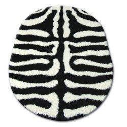 Teppich oval SHAGGY ZENA 3964 weiß / schwarz