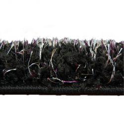 Teppichboden SHAGGY NARIN schwarz Creme+violett