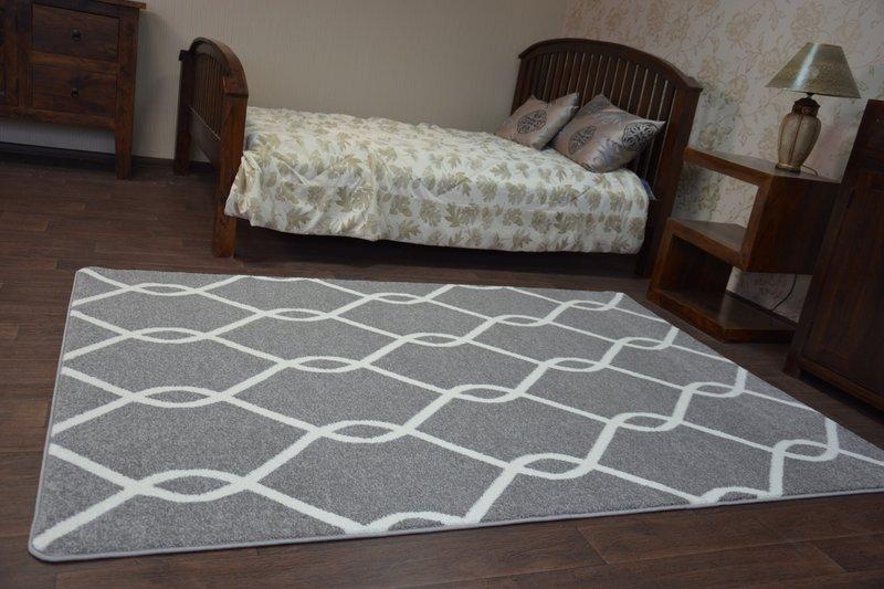 Größen modernen weich teppich sketch f grau weiß trellis