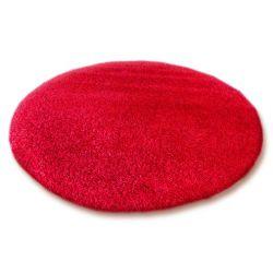 Teppich rund SHAGGY 5cm rot