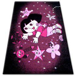 Teppich PILLY 7818 - purpurrot/schwarz