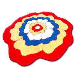 Teppich für Kinder KREIS HAPPY C273 BLUME rot