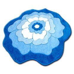 Teppich für Kinder KREIS HAPPY C273 BLUME blau