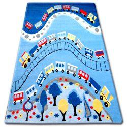 Teppich für Kinder HAPPY C168 blau Zug