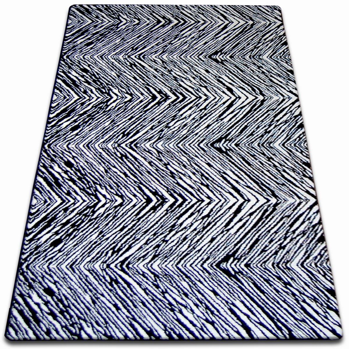 6 Größen modern flexible carpet sketch f132 black and white striped stripes striped