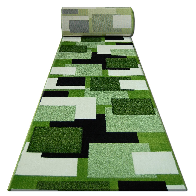 Moderne Läufer PILLY Grau Quadrate Breite 70-120 cm Dicke Modisch Preiswert